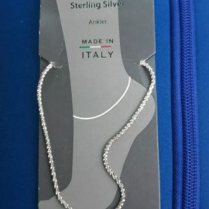 Jewelry - Sterling silver 9inch anklet